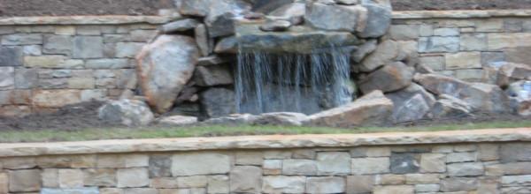 Waterfall atlanta-inground-pool-contractor